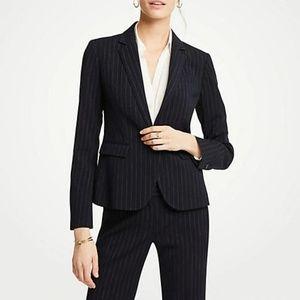 Ann Taylor One-Button Blazer In Pinstripe